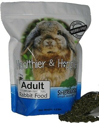 Rabbit Food - Sherwood Adult with Timothy (Grain/Soy-Free) - 4.5 lb.(Vet Used)