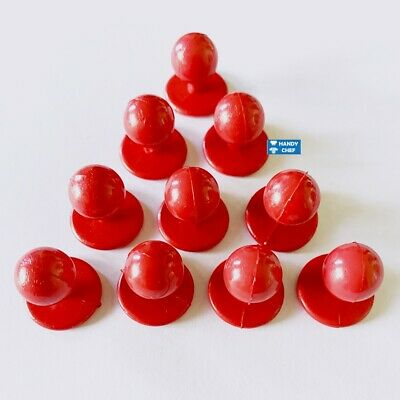 Chef Jacket Buttons- 10 Buttons pack - Red Chef Jacket Buttons