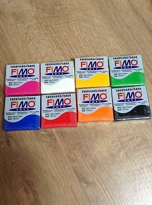 Job lot of 8 packs Fimo soft Modelling Clay  Oven Hard