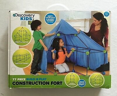 Discovery Kids Build & Play Construction Fort 77pc Complete Ages 5+
