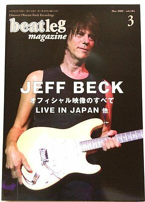beatleg 3/2009 Japan Music Magazine Jeff Beck Cindy Blackman Neil Young Yes