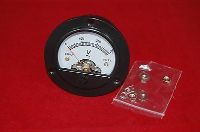 1PC AC 0-300V Round Analog Voltmeter Voltage Panel Meter DH52 directly Connect