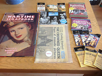 Wholesale Job Lot Wartime Items Scrapbook Fridge Magnets Dvd Cd Replica Paper B7