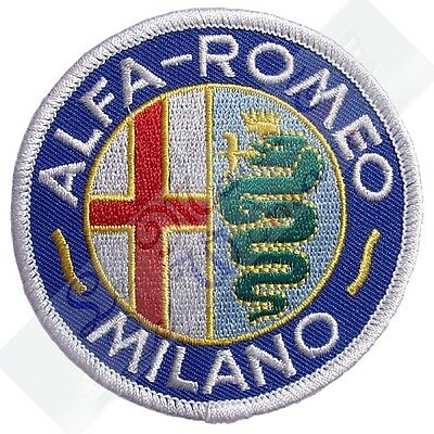 Alfa Romeo - Milano Blue Embroidered Cloth Emblem Badge Patch