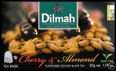 DILMAH Tee - Cherry & Almond Flavoured Black Ceylon Tea  20 Teebeutel