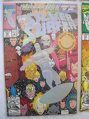Silver Surfer 75. Enhanced Foil Cover. Jim Starlin & Ron Lim.  Marvel. 1993