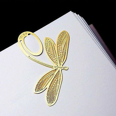 Creative 18K gold-plated Dragonfly Bookmark Animals Style