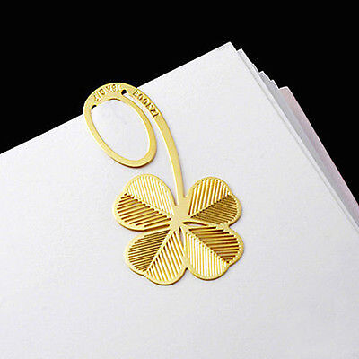 Creative 18K gold-plated Four-leaf clovers Bookmark gift