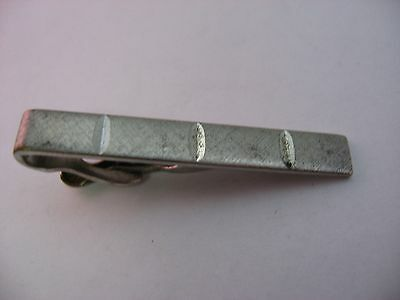 Some Wear Vintage Silver Tone Bar Style Mens Tie Clip Jewelry