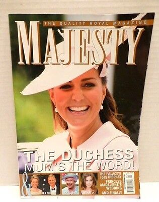 MAJESTY Magazine,Vol 34 No 8 Featuring The Duchess Of Cambridge , VG Condition