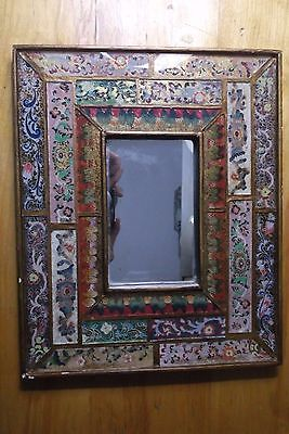 Reverse painting on glass with mirror....wood