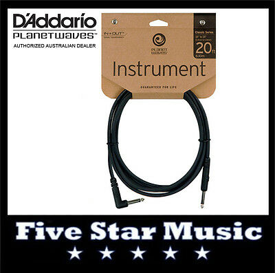 D'addario Planet Waves Classic Guitar Cable 20' Pw-Cgtra-20 Twenty Foot Lead New