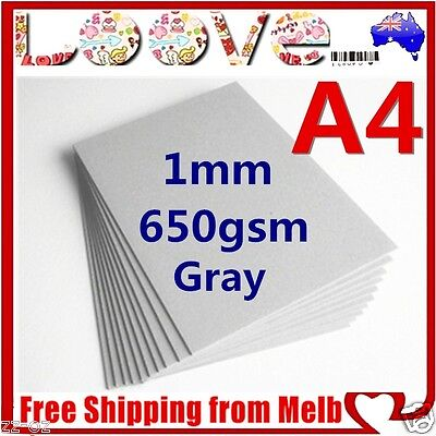 12x A4 Gray 650gsm Cardboard 1mm Chipboard Boxboard Recycled Card Packaging Boar