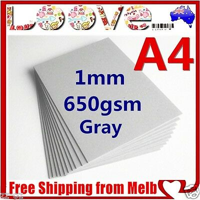 150 x A4 Gray 650gsm Cardboard 1mm Chipboard Boxboard Recycled Card Packaging