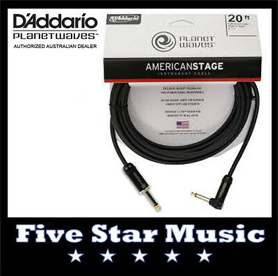 D'addario Planet Waves American Stage Series Guitar Cable 20' Pw-Amsgra-20 New