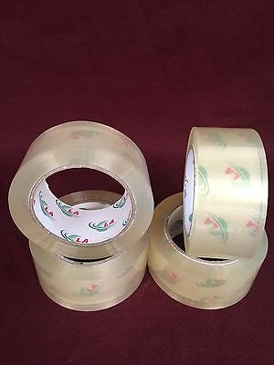 "4 Rolls Clear Packaging Tape - 2""x110 Yards(330'Feet) Low Noise packing Tape"