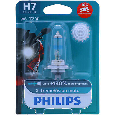 H7 PHILIPS X-tremeVision Moto - 100% mehr Licht - Maximale Leistung - POWER