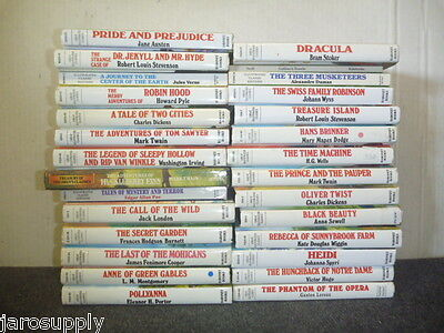 Lot of 10 Great Illustrated Classics Chapter Series Children Kids MIX UNSORTED