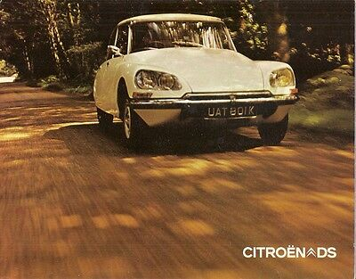Citroen DS 1971-72 UK Market Foldout Brochure Special Super 20 21 EFi Pallas