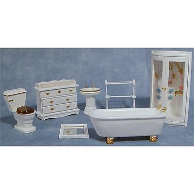 Dolls House Deluxe Bathroom With Shower 12th Scale DF895