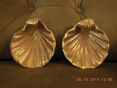 Stangl Granada Gold Set /2 Scalloped Shell Dishes/bowls.#4037,Used