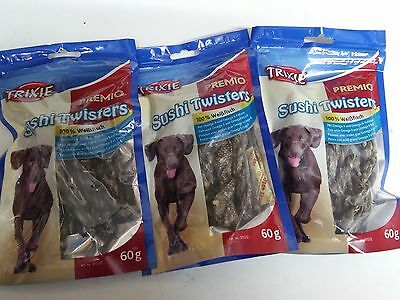 TRIXIE PREMIO Sushi Twister Dog Treats 3 x 60g - Posted Today if Paid Before 1pm