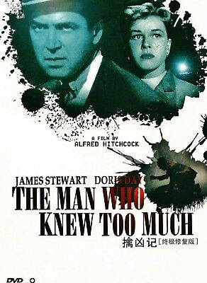 "New DVD   "" The Man Who Knew Too Much ""  James Stewart 1956"