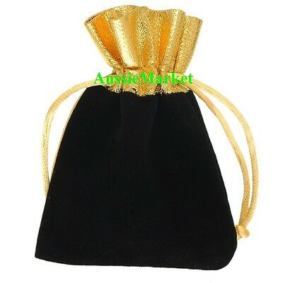 10 x velvet gift bags pouch favour wedding party jewellery ring organza necklace
