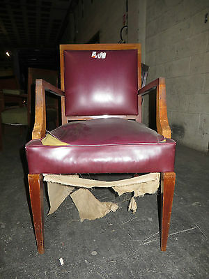 Fauteuil rouge + 2 chaises 1940