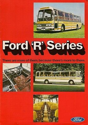 Ford R Series Bus & Coach 1977-78 UK Market Sales Brochure R1014 R1114