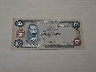 JAMAICA, 2 DOLLARS, L. 1960, EXTREMELY FINE