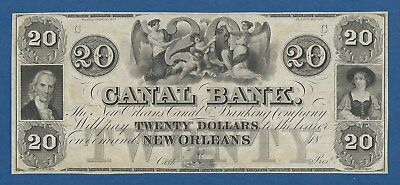 United States Of America -- Canal Bank -- New Orleans -- 20 Dollars Nd -- Unc .