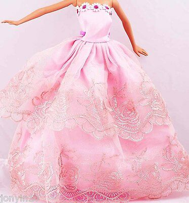 Fashion Handmade Barbie Party Clothes/Dress/Skirt/Gown For Barbie Doll n75