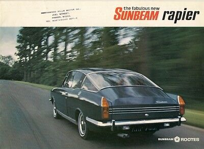 Sunbeam Rapier 1725cc Fastback 1967-69 UK Market Sales Brochure Arrow