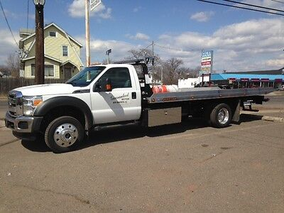 2015 Ford F550 4x4 Flatbed Tow Truck