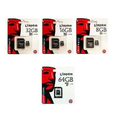 Tarjeta MicroSD Kingston Original - 8GB 16GB 32GB 64GB - Memoria - Top Ventas