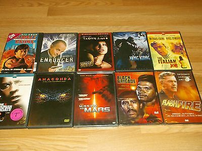 E)New & Previously Viewed/Used Dvd Lot-10 Action/Drama/Violence/Suspense! Oh My