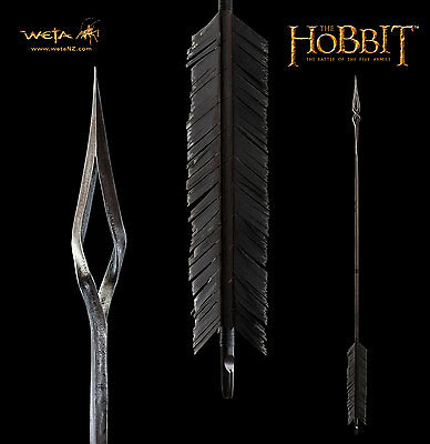 WETA The Hobbit: Battle of the Five Armies Black Arrow Prop Replica NEW SEALED