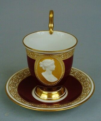 19TH C BERLIN KPM CUP AND SAUCER