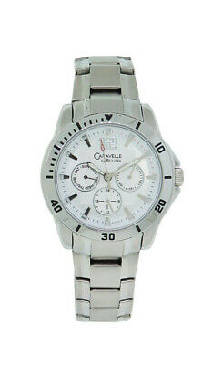 Caravelle by Bulova 43C106 Men's White Round Analog Day & Date Watch
