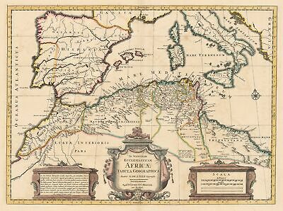 HJB-Antique Maps : Map of Northern Africa, the Mediterranean, & Southern Europe