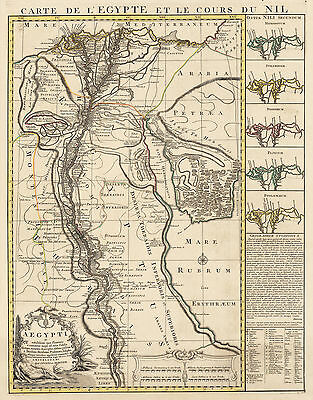 HJB-Antique Maps : Map of Egypt & the Nile River By: Covens & Mortier Date: 1745