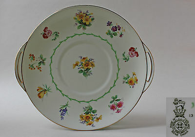 ROYAL DOULTON, V- 1566, TWO HANDLED SERVING PLATE, WILD FLOWERS / YELLOW