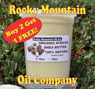 100% ORGANIC VIRGIN RAW AFRICAN SHEA BUTTER UNREFINED 16 oz 1 lb GRADE A