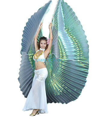 Dance Fairy Exotic White colorful Yarn Belly Dance big Isis Wings dance Props