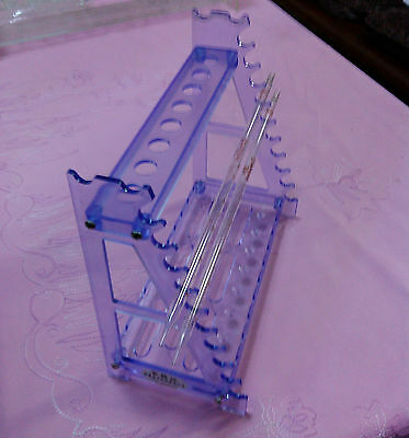 Plastic Ladder Pipette Holder Straw Rack Support Stand Non PMMA 18Load J408 lx