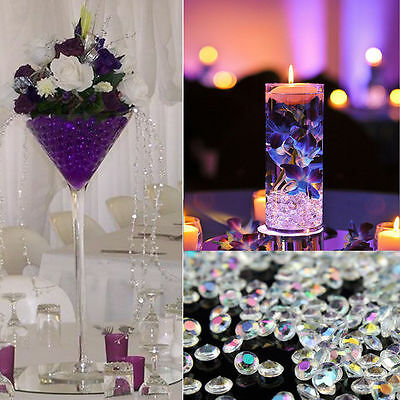 8mm Diamond Confetti Wedding Table Scatter Crystal Diamante Party Decoration 2ct