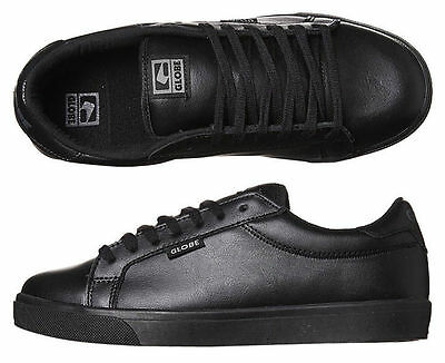 Globe Shoes Mortal Black Leather School Work Australian Seller Free Postage