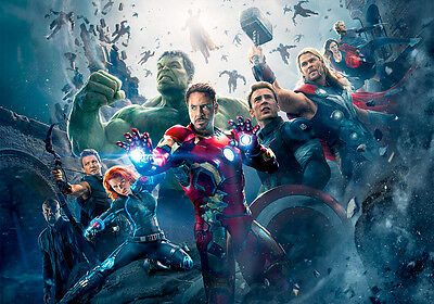"Avengers Age of Ultron II 33"" x 24"" High Quality Canvas Art Print"