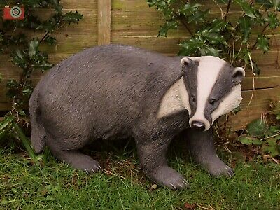Badger, Life Size. Stunning Home & Garden Ornament. Ultra Realistic. Vivid Arts